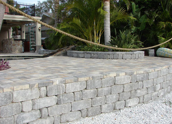 Tampa Clearwater Brick Retaining Walls Stairs St Pete